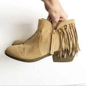 American Eagle fringe booties